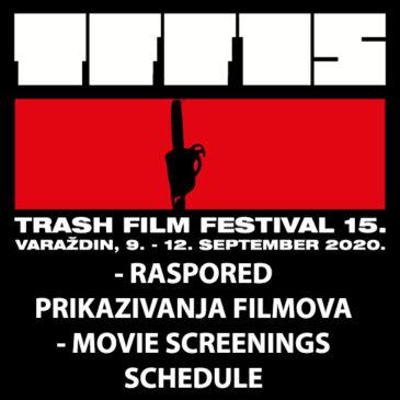 Raspored prikazivanja filmova / Movie screenings schedule